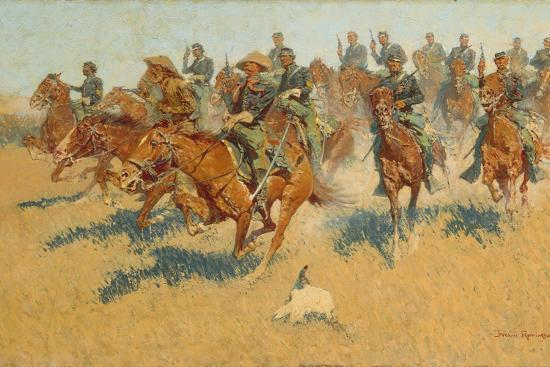 frederic-remington-on-the-southern-plains-1907