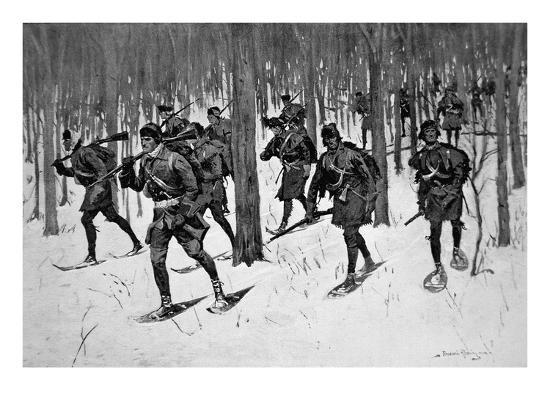 frederic-sackrider-remington-the-march-of-rogers-rangers-litho