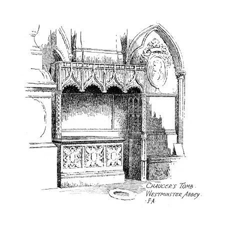 frederick-adcock-chaucer-s-tomb-westminster-abbey-london-1912