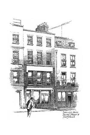 frederick-adcock-percy-bysshe-shelley-s-house-poland-street-borough-of-westminster-london-1912