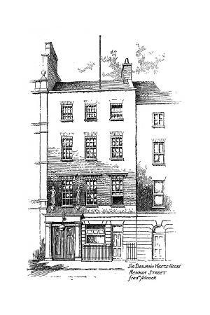 frederick-adcock-sir-benjamin-west-s-house-newman-street-london-1912