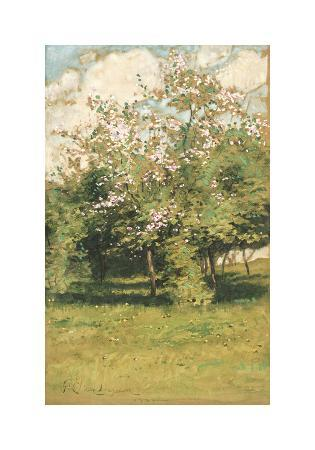 frederick-childe-hassam-blossoming-trees-1882