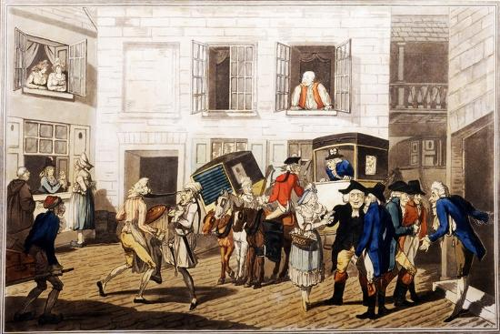 frederick-george-byron-inn-yard-at-calais-pub-by-william-holland-london-1790-hand-coloured-aquatint