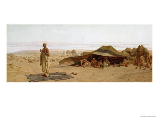 frederick-goodall-evening-prayer-in-the-west-1872