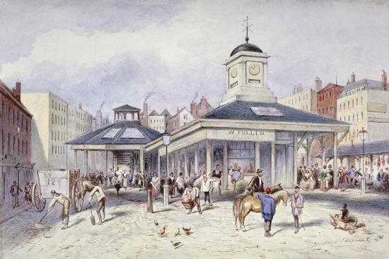 frederick-napoleon-shepherd-view-of-newgate-market-in-paternoster-square-city-of-london-1836