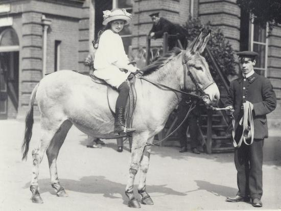 frederick-william-bond-a-young-lady-riding-an-ass-which-is-being-led-by-one-keeper-while-another-looks-on