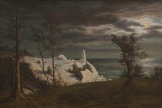 frederik-hansen-sodring-the-summer-spire-on-the-cliffs-of-the-island-mon-moonlight-1831
