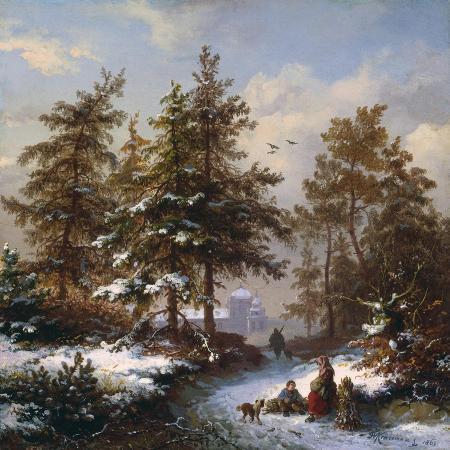 frederik-marianus-kruseman-gathering-firewood
