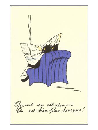 french-black-cats-reading-newspaper