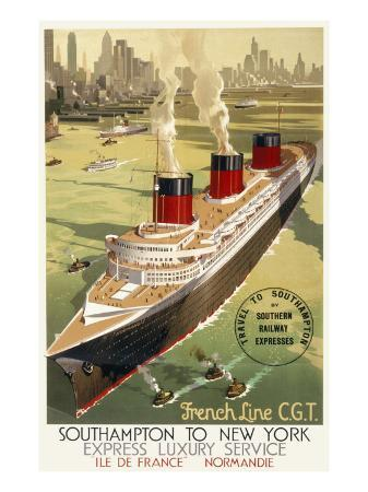 french-line-cgt-poster