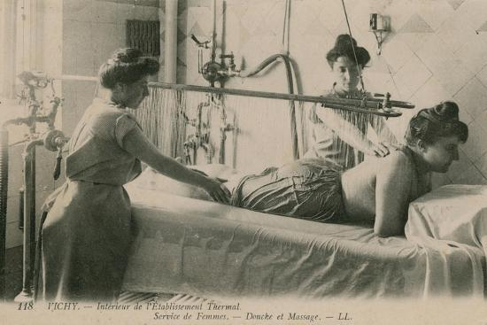 french-photographer-postcard-of-a-woman-receiving-a-shower-and-massage-at-the-thermal-baths-in-vichy-sent-in-1913