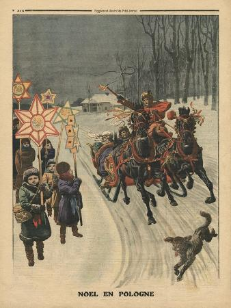 french-school-christmas-in-poland-illustration-from-le-petit-journal-supplement-illustre-24th-december-1911