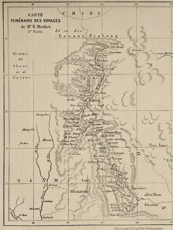 french-school-map-of-laos-and-the-mekong-river-showing-the-route-of-the-voyage-of-henri-mouhot-illustration