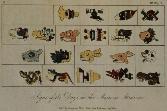 friedrich-alexander-baron-von-humboldt-t-1602-signs-of-the-days-in-the-mexican-almanac-from-vol-ii-of-researches-concerning-the