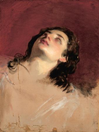 friedrich-von-amerling-study-of-a-head-of-a-woman
