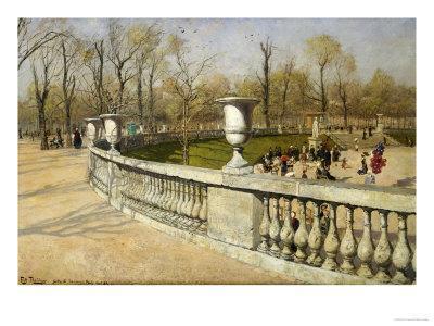 Jardin du luxembourg 1883 giclee print by fritz thaulow for Art du jardin zbinden sa