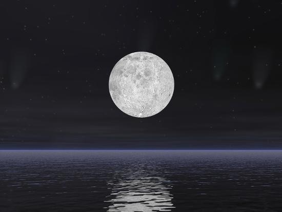 full-moon-on-a-dark-night-with-stars-and-comets-over-the-ocean