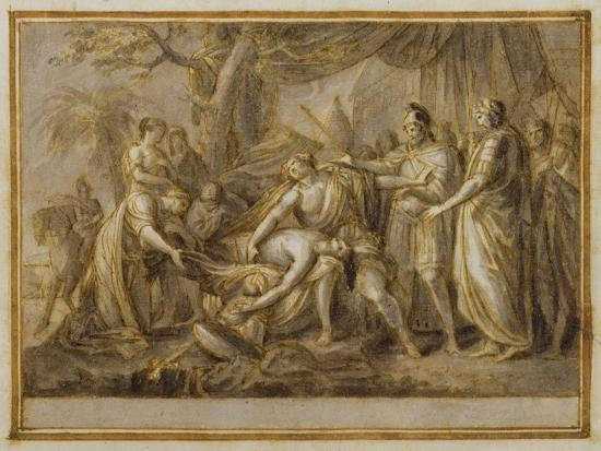 gavin-hamilton-achilles-lamenting-the-death-of-patroclus-1760-63-pen-and-ink-and-wash-on-paper