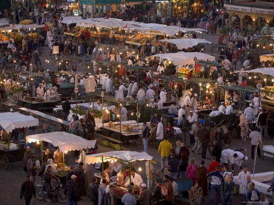 gavin-hellier-food-stalls-in-the-evening-djemaa-el-fna-marrakesh-morocco-north-africa-africa