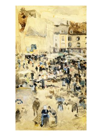 geoffrey-clements-european-street-scene-by-maurice-prendergast