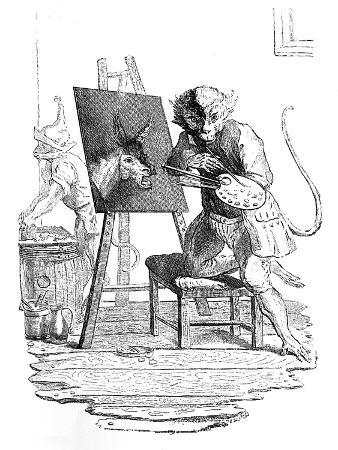 george-bickham-an-ape-painting-an-ass-1753