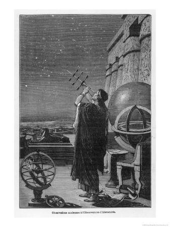 george-billerger-alexandria-observatory-an-astronomer-using-a-pre-telescopic-sighting-instrument