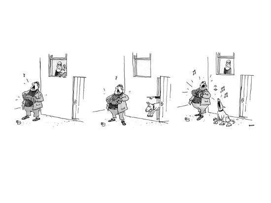 george-booth-3-drawings-a-man-plays-a-accordion-beneath-a-window-the-man-in-window-l-new-yorker-cartoon
