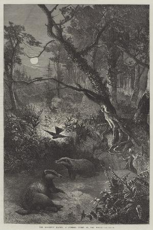 george-bouverie-goddard-the-badger-s-haunt-a-summer-night-in-the-woods