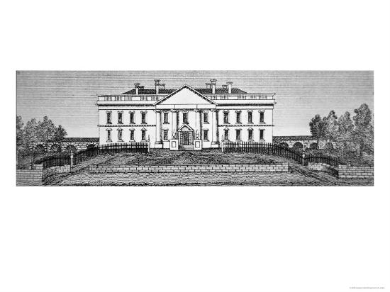 george-catlin-the-white-house-in-1820