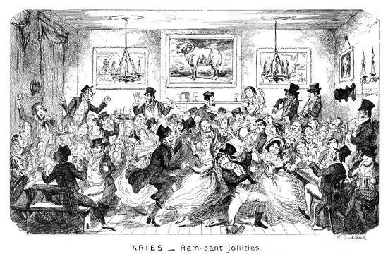 george-cruikshank-aries-ram-pant-jollities-19th-century