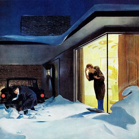george-hughes-late-for-party-due-to-snow-january-27-1962
