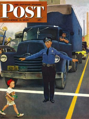 george-hughes-traffic-cop-saturday-evening-post-cover-september-3-1949