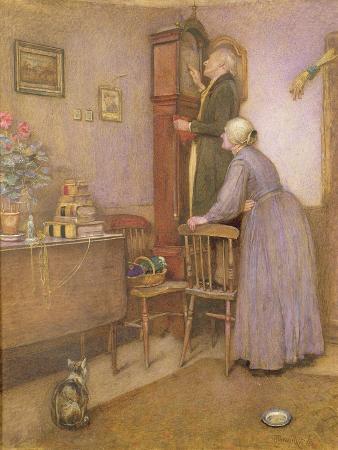 george-john-pinwell-the-old-clock-1863