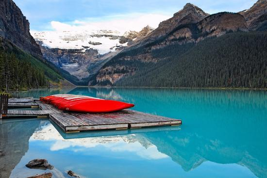george-oze-canoes-of-lake-louise-alberta-canada