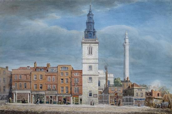 george-the-elder-scharf-view-of-st-michael-church-crooked-lane-london-designed-by-christopher-wren-during