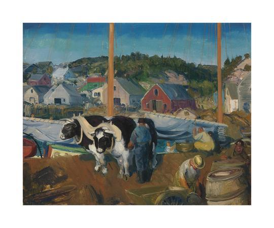 george-wesley-bellows-ox-team-wharf-at-matinicus