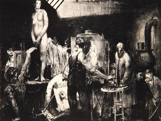 george-wesley-bellows-the-life-class-1917