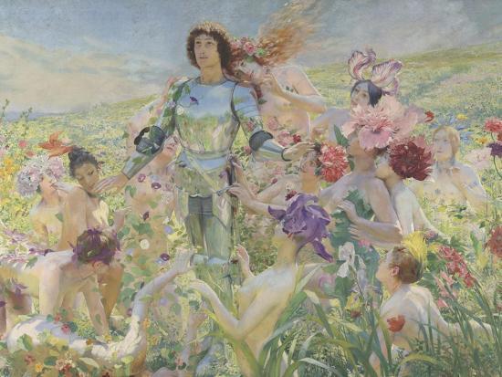 georges-antoine-rochegrosse-le-chevalier-aux-fleurs-tire-de-wagner-parsifal