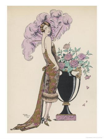 georges-barbier-frock-fur-and-feather-fan