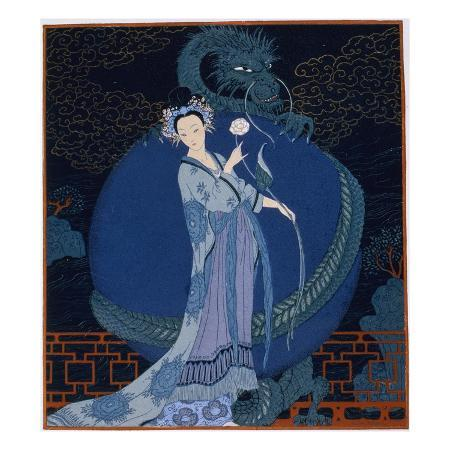 georges-barbier-lady-with-a-dragon