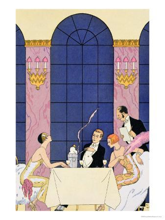 georges-barbier-the-gourmands-1920-30