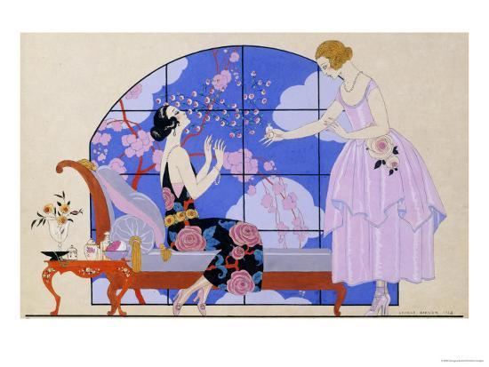 georges-barbier-two-ladies-in-a-salon-1924