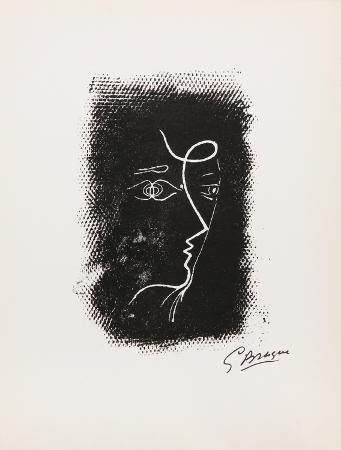 georges-braque-profil-de-femme-from-souvenirs-de-portraits-d-artistes-jacques-przhvert-le-coeur