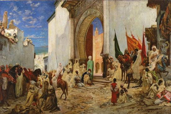 georges-clairin-entry-of-the-sharif-of-ouezzane-into-the-mosque-1876