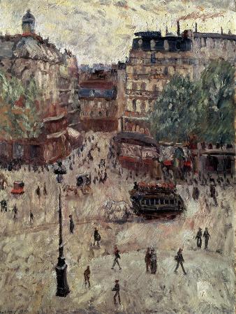 georges-leon-dufrenoy-a-square-in-paris-1907