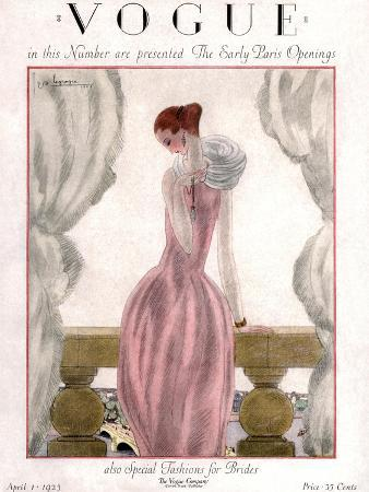 georges-lepape-vogue-cover-april-1923-pink-evening-gown