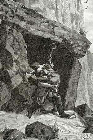 georges-marie-rochegrosse-combat-d-han-d-islande-et-d-ordener-illustration-from-han-d-islande-19th-century