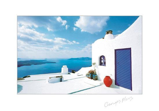 georges-meis-blue-door-with-red-pot