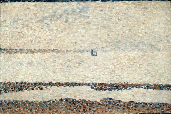 georges-seurat-beach-at-gravelines-1890