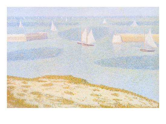 georges-seurat-entrance-to-the-port-of-bessin